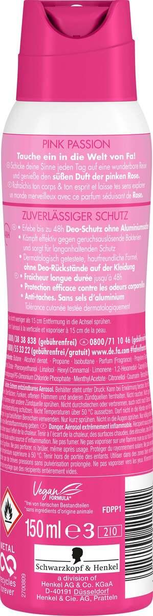 Bild 2 von Fa Deodorant Spray Pink Passion