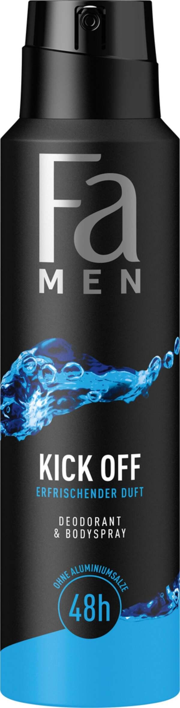 Fa Men Deodorant & Bodyspray Kick Off