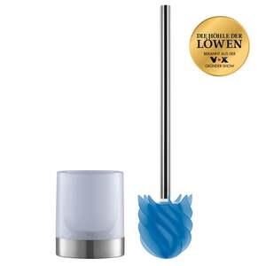 LOOMAID WC-Bürste Silikonkopf Edelstahl/blau