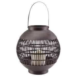 LED-Laterne schwarz Ø 22 x 23 cm