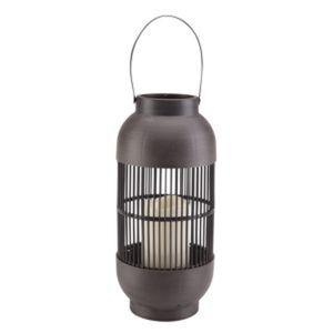 LED-Laterne schwarz 15 x 33 cm