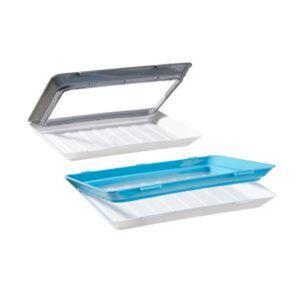 Frischhalteboxen-Set 'Fresh & Clik' 235 x 315 x 50 mm, blau/grau, 2-teilig
