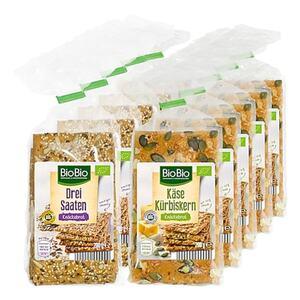 BioBio Knäckebrot 200 g, verschiedene Sorten, 10er Pack