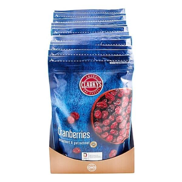 Clarkys Cranberries 200 g, 12er Pack