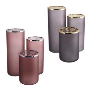 LIVING ART     Vasenset mit Metalldeckel