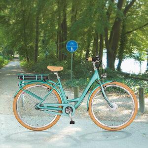 "Retro-E-Bike 28"" mit Vorderradmotor"