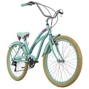 KS Cycling Beachcruiser 26 Zoll Splash 6 Gänge grün für Damen