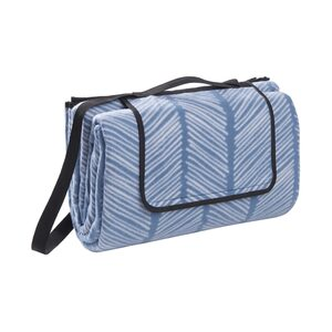 Butlers Get Together XXL-Picknickdecke Streifen L 200 x B 200cm, Blau