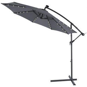 Deuba Sonnenschirm Solar LED-Beleuchtung, Grau