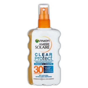 Garnier Ambre Solaire Clear Protect Sonnenschutz-Spray LSF 30