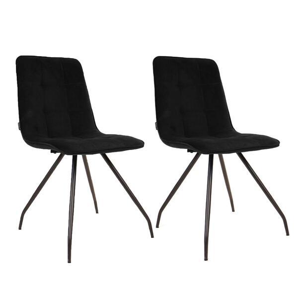 Stuhl-Set in Schwarz ´LISA´