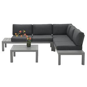 Garden Impressions Lounge Set Adelaide 4-teilig Aluminium arctic grey