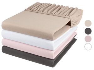 MERADISO® Baumwoll-Jersey Spannbettlaken, 90-100 x 200cm