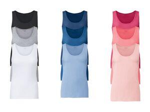 ESMARA® 3 Damen Achselhemden, mit Baumwolle