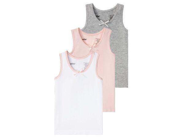LUPILU® Kleinkinder Unterhemden Mädchen, 3 Stück