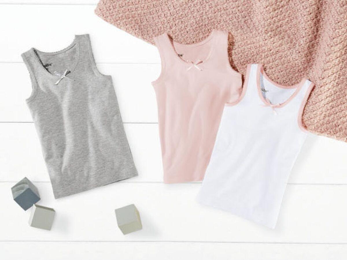 Bild 2 von LUPILU® Kleinkinder Unterhemden Mädchen, 3 Stück
