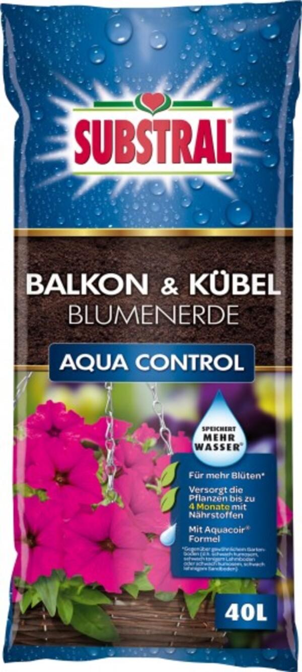 Substral Balkon & Kübel Blumenerde Aqua Control ,  40 L
