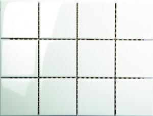 Wandfliese weiß 15 x15 cm glänzend, Abr. 2