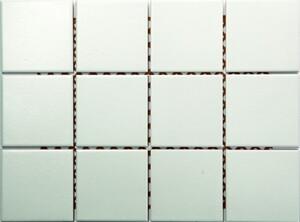 Wandfliese weiß 15 x 15 cm matt, Abr. 2