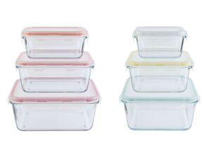 ERNESTO® 3 Frischhaltedosen, aus Glas