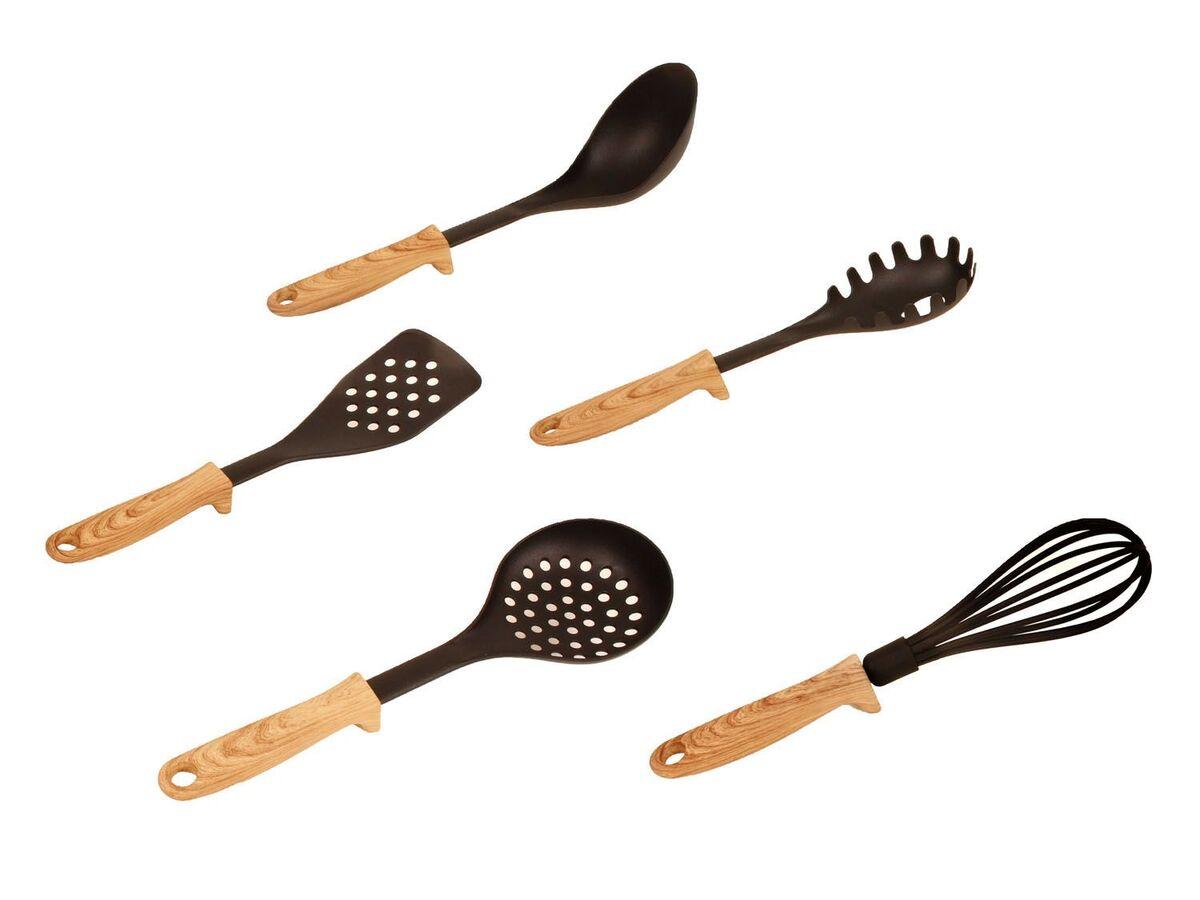 Bild 1 von ERNESTO® Küchenhelfer, 5-teilig, gummierte Beschichtung
