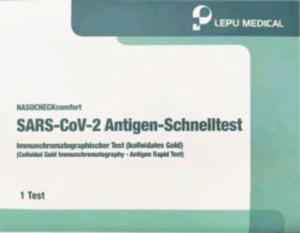 LEPU Corona Schnelltest Selbsttest SARS-CoV-2 Antigen-Schnelltest