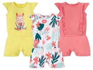LUPILU® Baby Jumpsuit Mädchen, mit Druckknöpfen