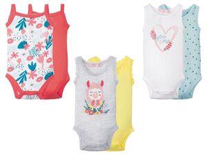 LUPILU® Baby Bodies Mädchen, 2 Stück, mit Druckknöpfen
