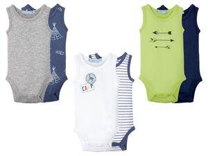 LUPILU® Baby Bodies Jungen, 2 Stück, mit Knöpfung