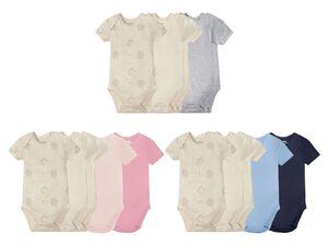 LUPILU® Baby Bodies, 5 Stück, aus Baumwolle