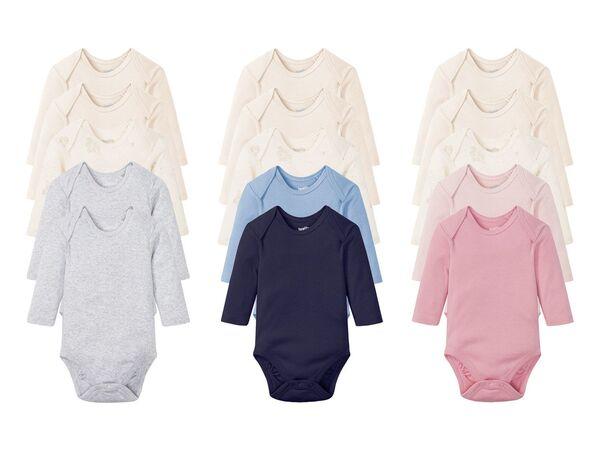 LUPILU® 5 Baby Bodies, mit Bio-Baumwolle