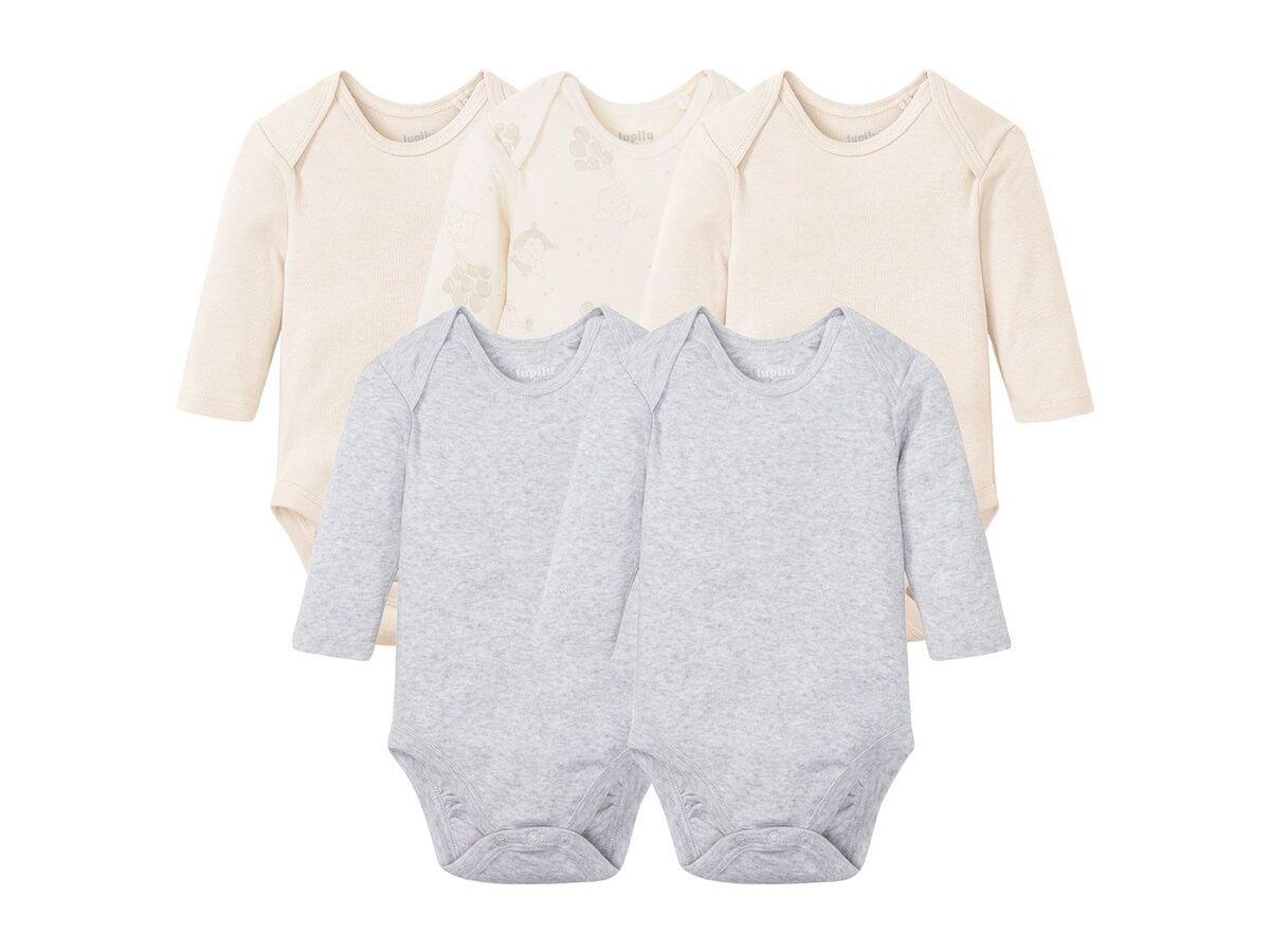 Bild 2 von LUPILU® 5 Baby Bodies, mit Bio-Baumwolle