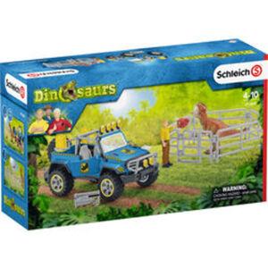 Schleich® Geländewagen mit Dino-Außenposten