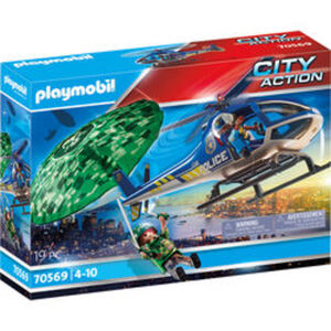 PLAYMOBIL®City Action Polizei-Hubschrauber: Fallschirm-Verfo