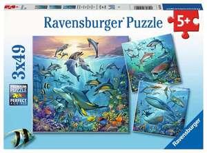 Ravensburger Puzzle Tierwelt des Ozeans 3x49T