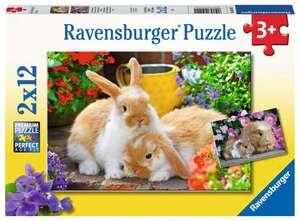 Ravensburger Puzzle Kleine Kuschelzeit 2x12T