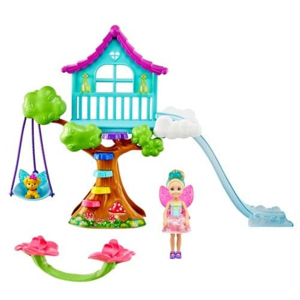 Barbie Dreamtopia - Chelsea Feen-Baumhaus-Spielset mit Puppe