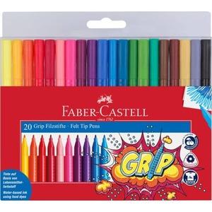 Faber-Castell - Grip Filzstifte - 20 Farben