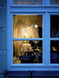 Polarlite LBA-50-015-1 LED-Fensterbild Weihnachtsbaum Warmweiß LED Transparent