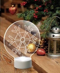 Polarlite LBA-51-008 Acryl-Figur Schneeflocke Kaltweiß LED Transparent