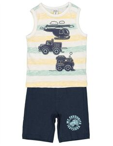 Baby Set aus Top und Hose - Print