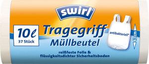 Swirl Tragegriff-Müllbeutel 10 Liter 37 Stück