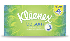 Kleenex Balsam Taschentücher Box 4lagig 60 Tücher