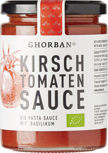 Ghorban Bio Kirschtomaten Sauce mit Basilikum 320G