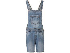 ESMARA® Jeans Latzshorts Damen, mit Knopfverschluss