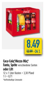 Coca-Cola, Mezzo Mix, Fanta, Sprite