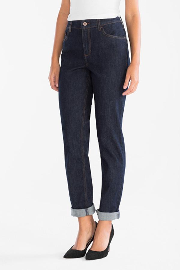 C&A Girlfriend Jeans Classic Fit-Bio-Baumwolle, Blau, Größe: 36 K