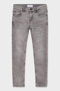C&A Slim Jeans-Bio Baumwolle, Grau, Größe: 128
