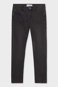 C&A Skinny Jeans-Bio-Baumwolle, Grau, Größe: 158