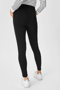 C&A Umstands-Leggings-Bio-Baumwolle, Schwarz, Größe: XS